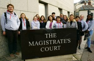 Magistrate Court visit by Institute of Law students